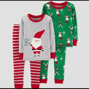Carter's Just One You Boy 4pc Christmas Pajama Set